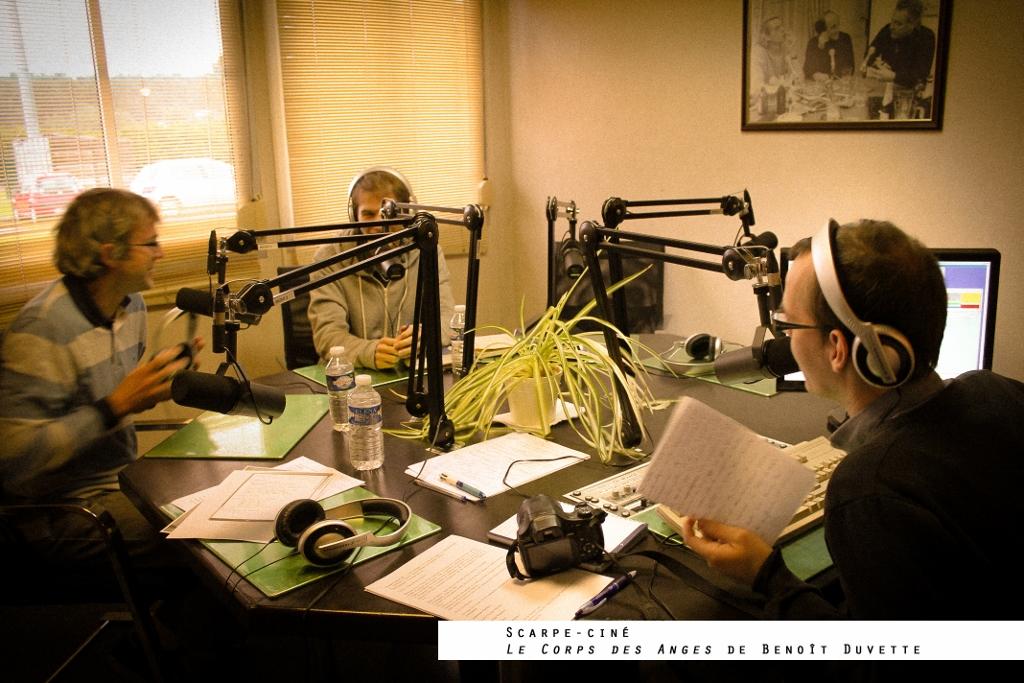 Interview radiophonique de Benoît Duvette et Christian Hanquet dans les studios de Scarpe Ciné