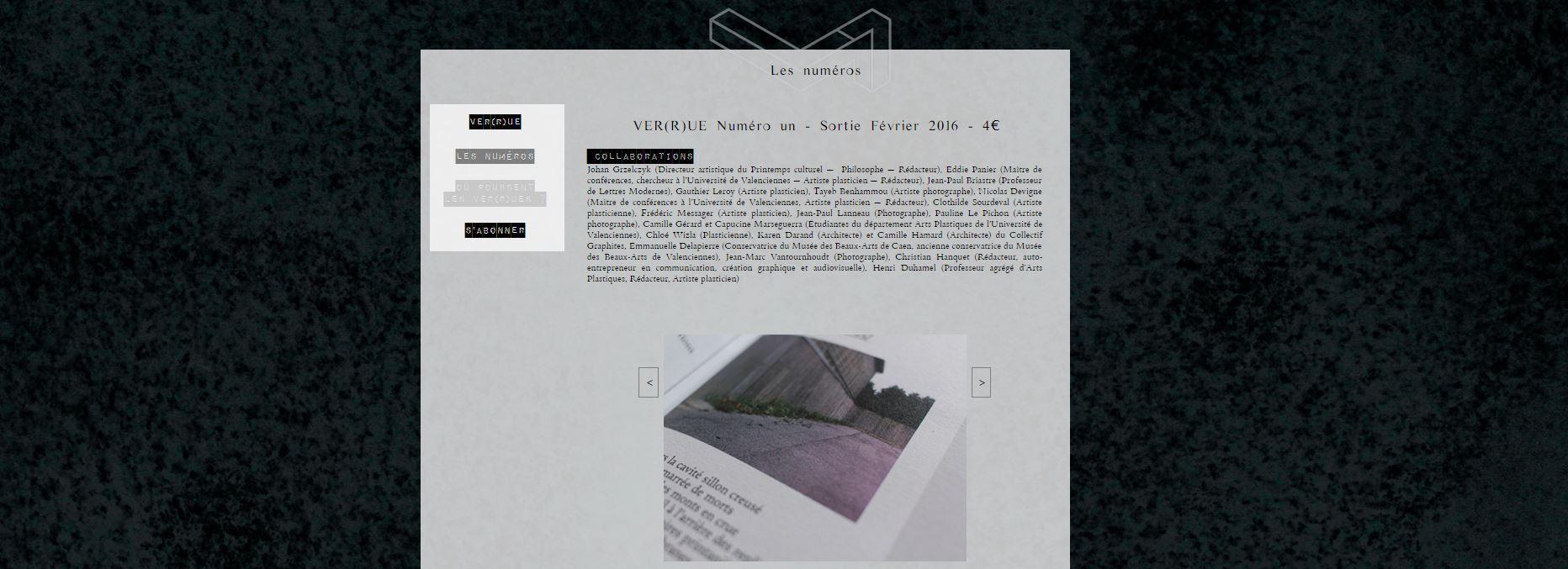 Conception Site Collectif des Routes Revue Verrue