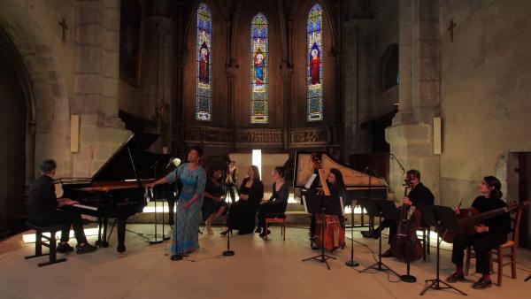 « Gospel Baroque »Marie-Laure Garnier,Mariamielle Lamagat,Alice Lestang,Celia Oneto-Bensaid,Auxane Cartigny & Cet Etrange Eclat (ensemble baroque)